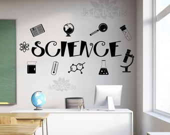 Science decal, Science wall decal, classroom wall decal, teacher decal, science teacher gift,