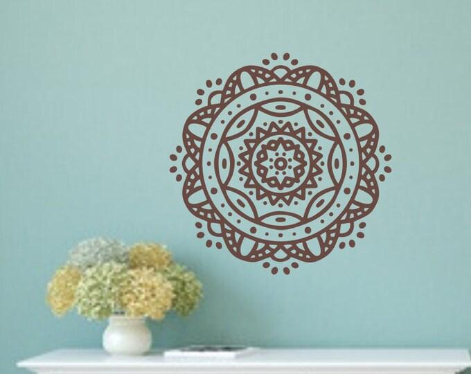 Mandala decal, Mandala wall art, Mandala wall decal, mandala art, wall decor, wall art stickers, flower wall decals, boho wall art