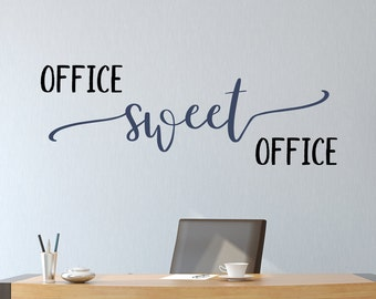 Office wall decal, Office sweet office, office decor, office wall art, office sign, home office, gift for boss, office decal,