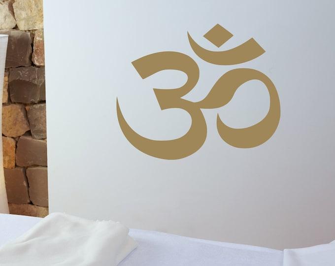 Om symbol wall decal, Aum symbol, yoga wall art, laptop decal