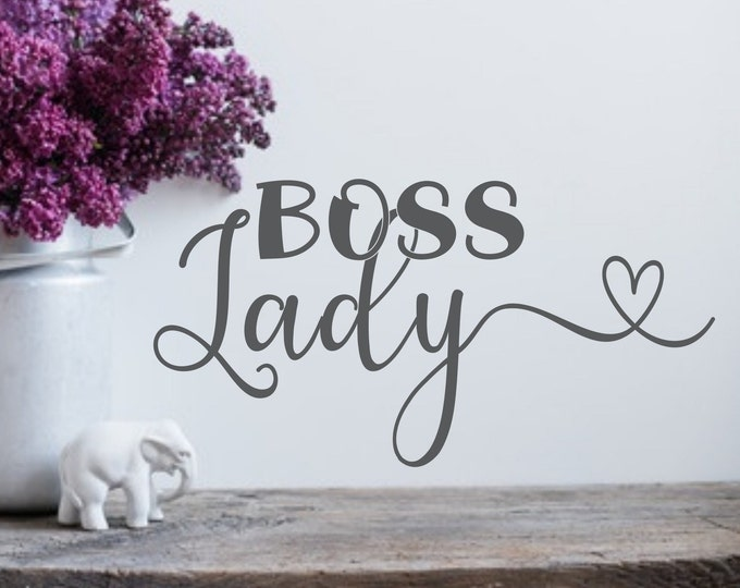 Boss lady Girl boss decal wall decal laptop decal boss babe