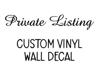 Private listing for Marcus for School wall decals