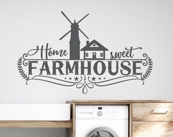 Home sweet farm, farmhouse decor, farmhouse decal, home sweet home, farm quote, farmhouse sign, home sweet farmhouse