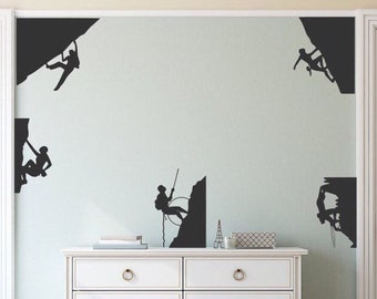 Rock climbing decals, rock climbing decor, climbing decal