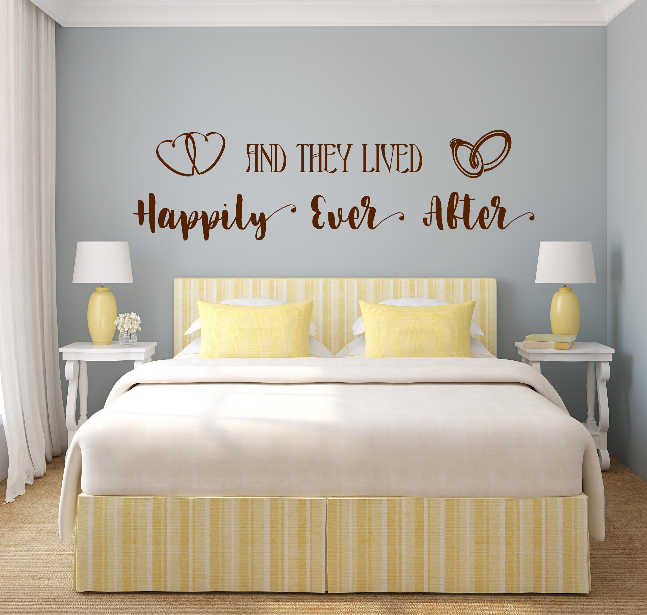 Happily ever after decal, happily ever after sign, bedroom wall ...