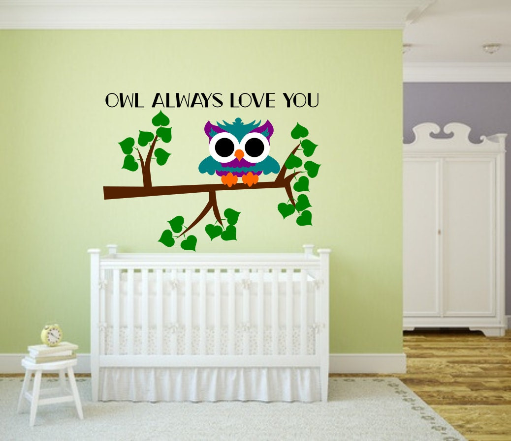 Owl nursery decor, Owl always love you, owl nursery ideas, owl ...