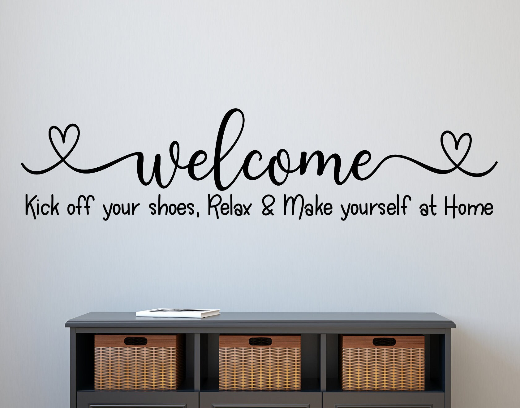Wall Tattoo Wall Sticker Welcome with request name Stickers Sticker