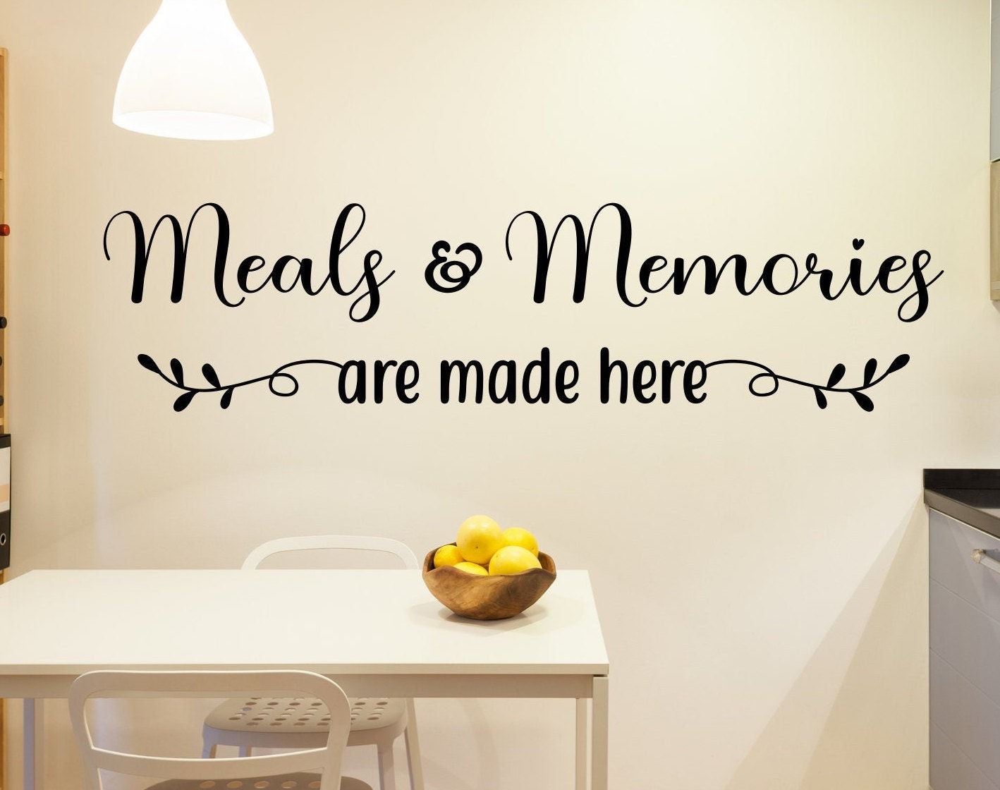 Meals And Memories Are Made Here Kitchen Wall Decor Farmhouse Dining Room Art Decal Sticker