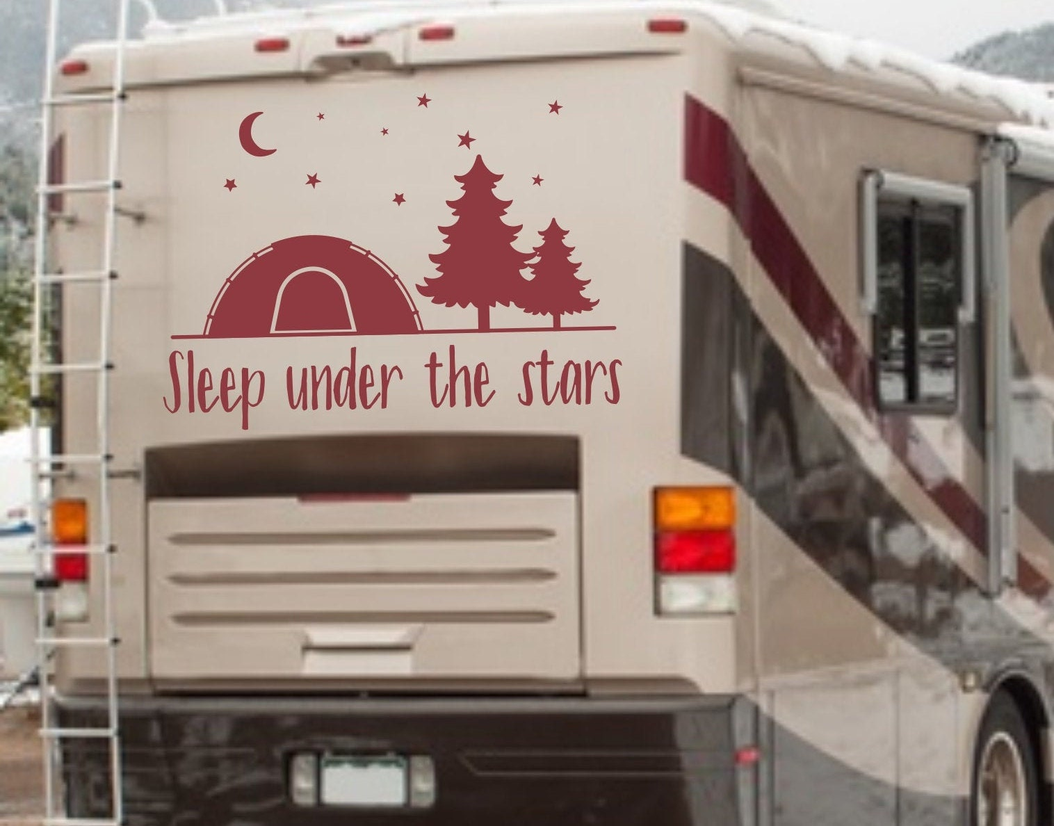 Camping bumper sticker camping decal sleep under the stars