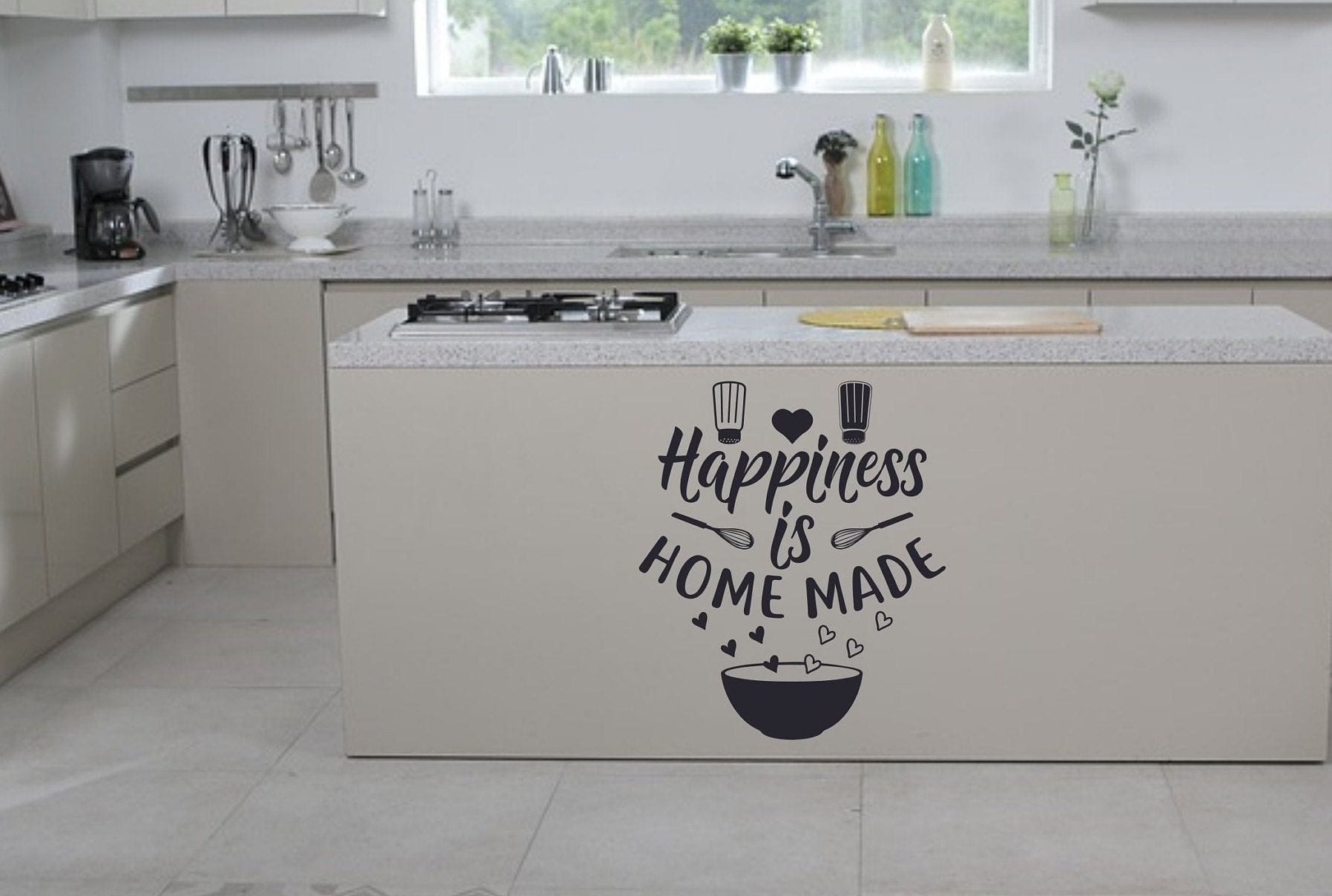 Happiness Is Homemade Wall Decal Kitchen Decor Quotes Vinyl Art Sticker