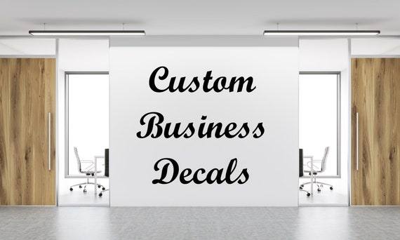 Custom business decal custom business sign business wall | Etsy
