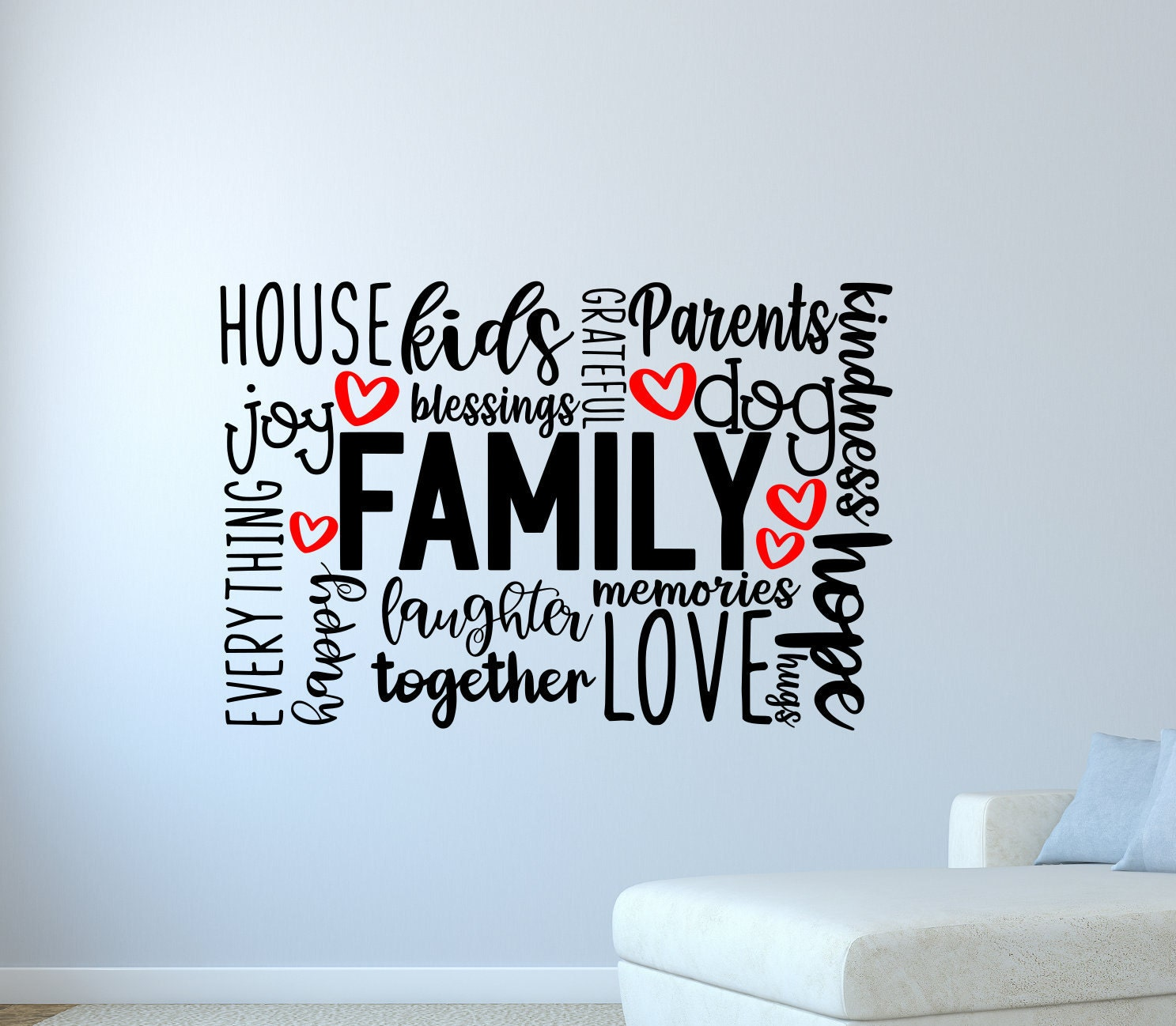 Family LAST NAME CUSTOM Wall Art Decal Decor Vinyl