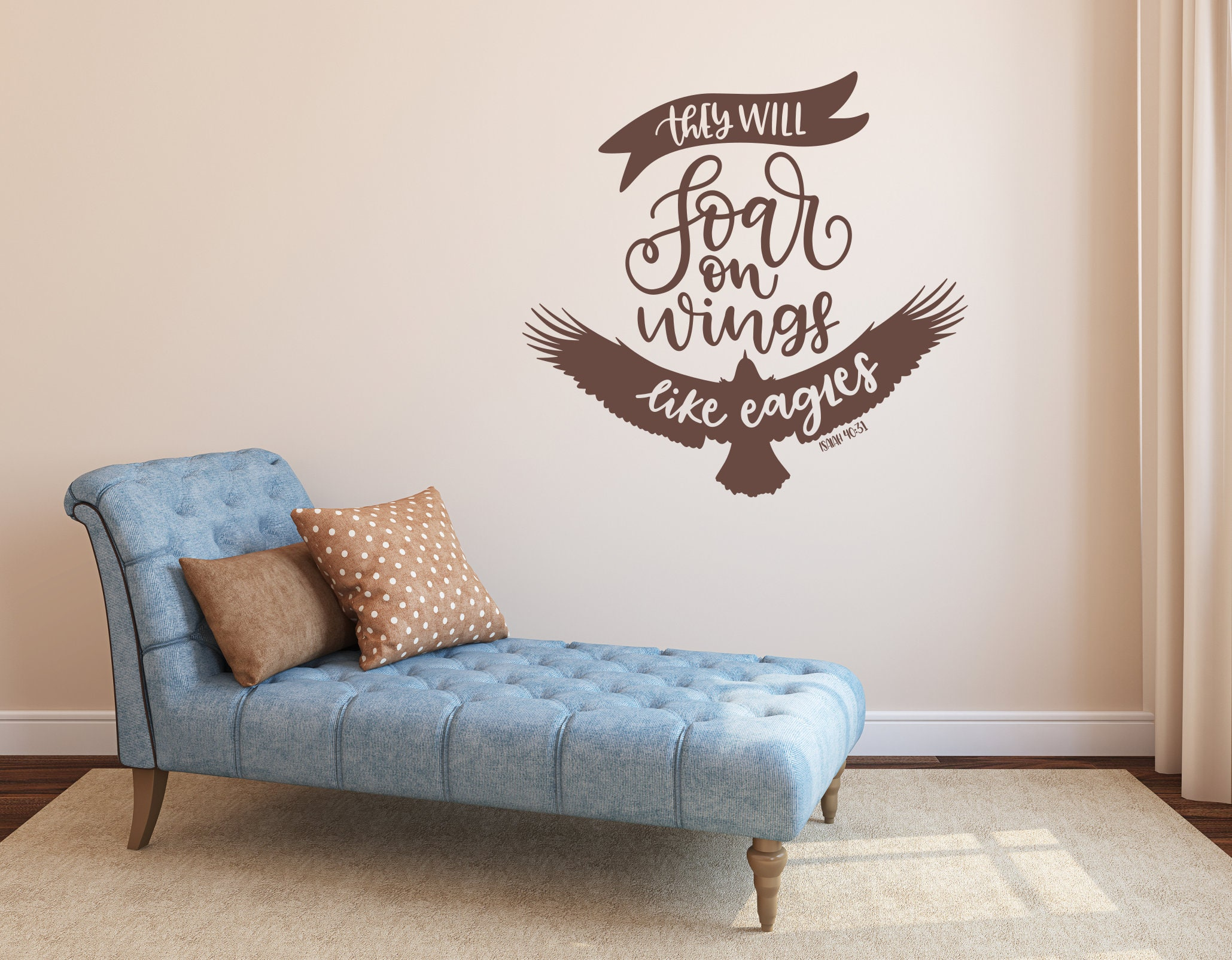 Christian Wall Art, They Will Soar On Wings Like Eagles