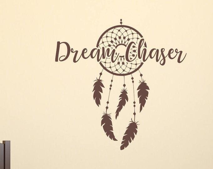 Dreamcatcher wall decal, boho dreamcatcher decal, large dream catcher, dream chaser decal