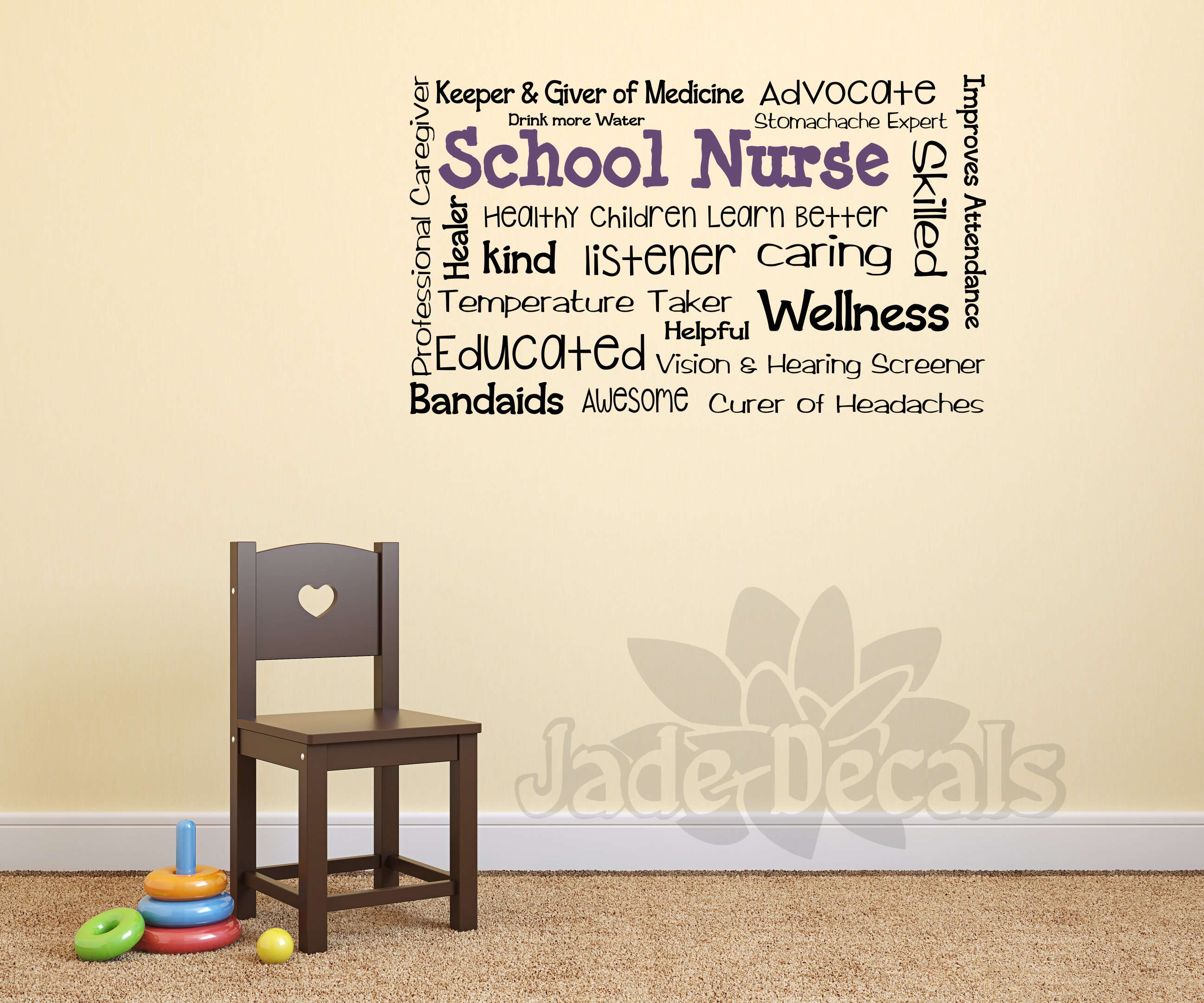 School Nurse Wall Decal School Nurse Decor School Nurse Office