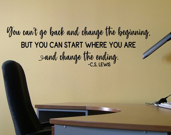 CS Lewis inspirational quote wall art vinyl decal, office wall decor, classroom decal