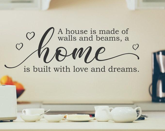 Farmhouse decor, wall decal, home decor, new home gift, first home gift, farmhouse style, vinyl decal, farmhouse sign,  wall decor