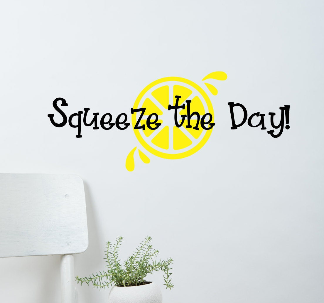 Squeeze the Day 3 vinyl stickers
