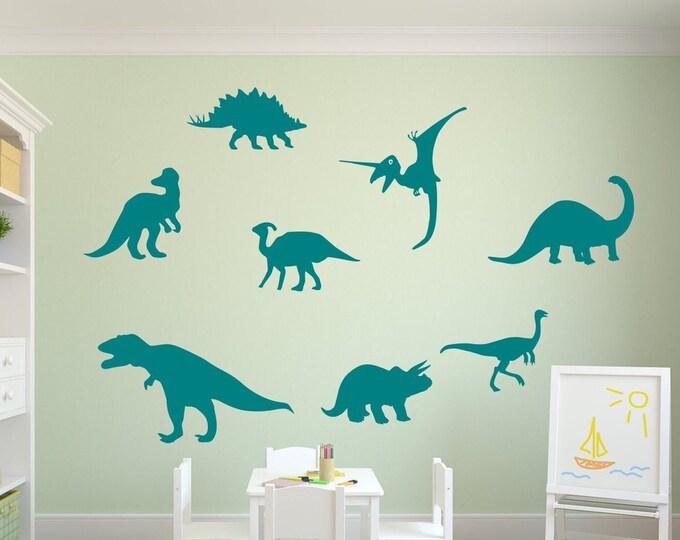 Dinosaur wall decals, dino decals, kids room decals, dinosaur wall decor, dinosaur wall art,