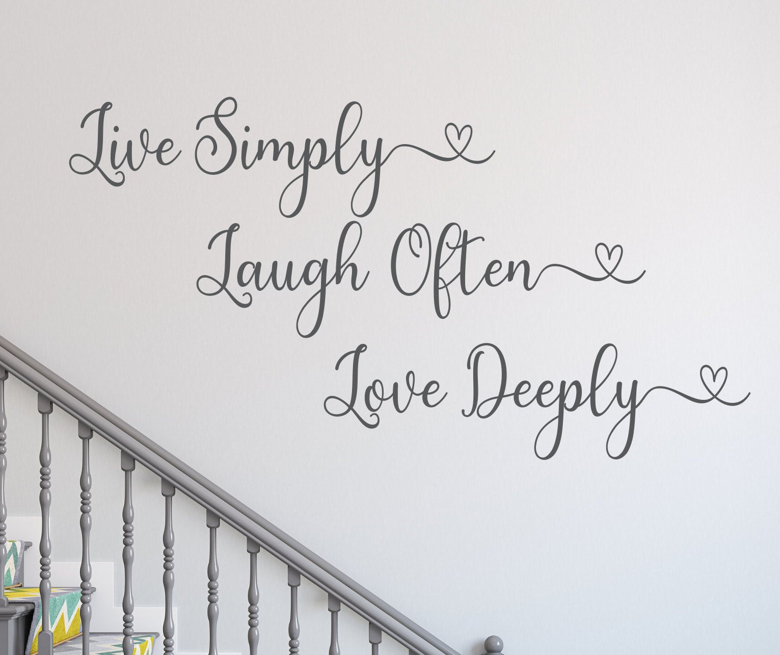 Live Simply Laugh Often Love Deeply Live Laugh Love Decal Wall Decal Home Decor Live Every Moment Inspirational Quote Live Love Laugh