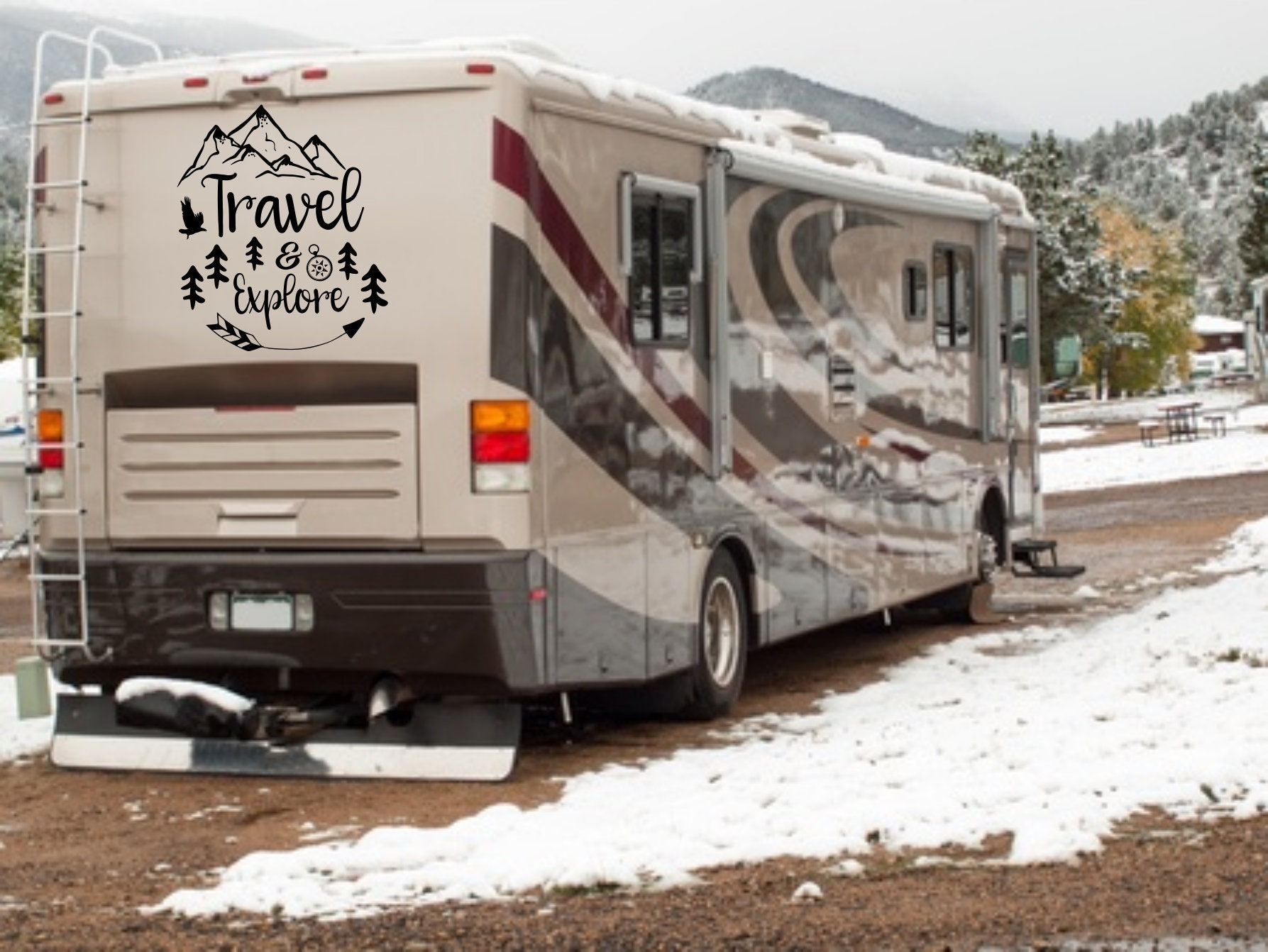 Travel rv decal rv travel decal travel and explore travel decal explore decal mountain rv decal travel wall decor custom rv decals