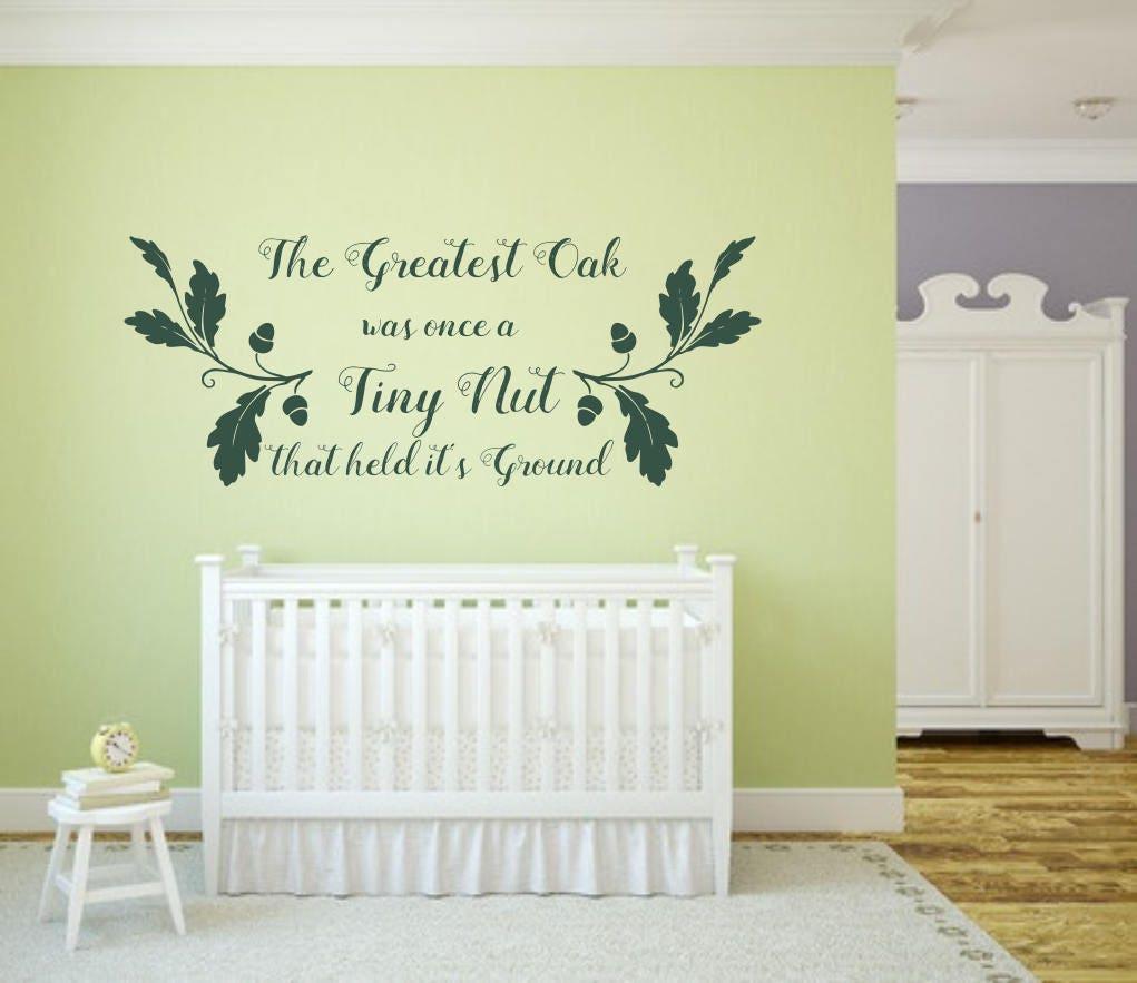 The Greatest oak decal, oak tree decal, nursery wall decal, acorn ...