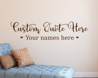 Custom wall decal, custom decal, welcome wall decal, personalized decal, vinyl decals, name decals, mirror decals, home sweet home
