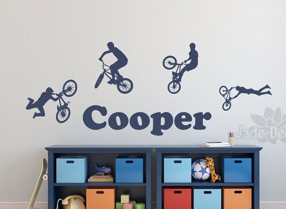 Eat Sleep BMX Wall Sticker Vinyl Decal Decors Art Bike Rider Riding Sport