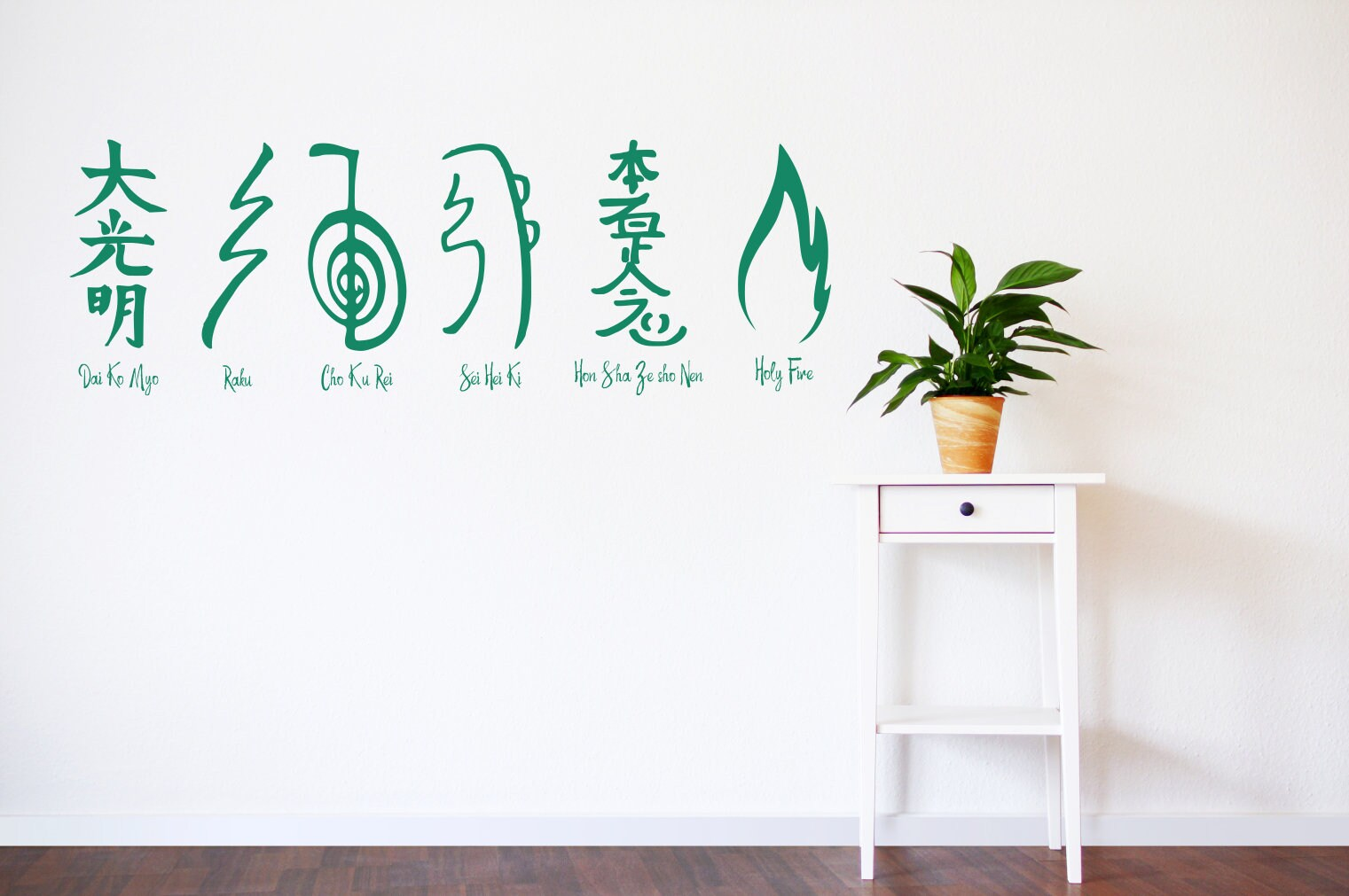 Reiki Symbols Vinyl Wall Decals Treatment Room Decor