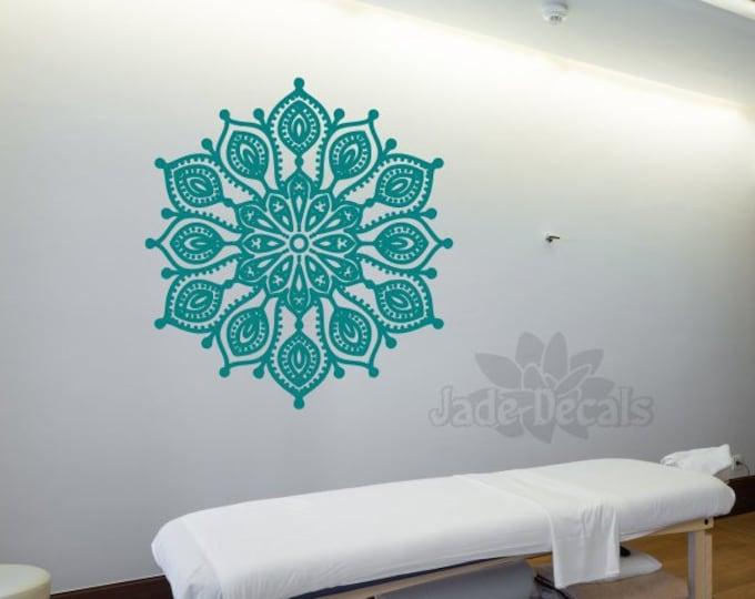 Mandala wall art, Mandala yoga decal