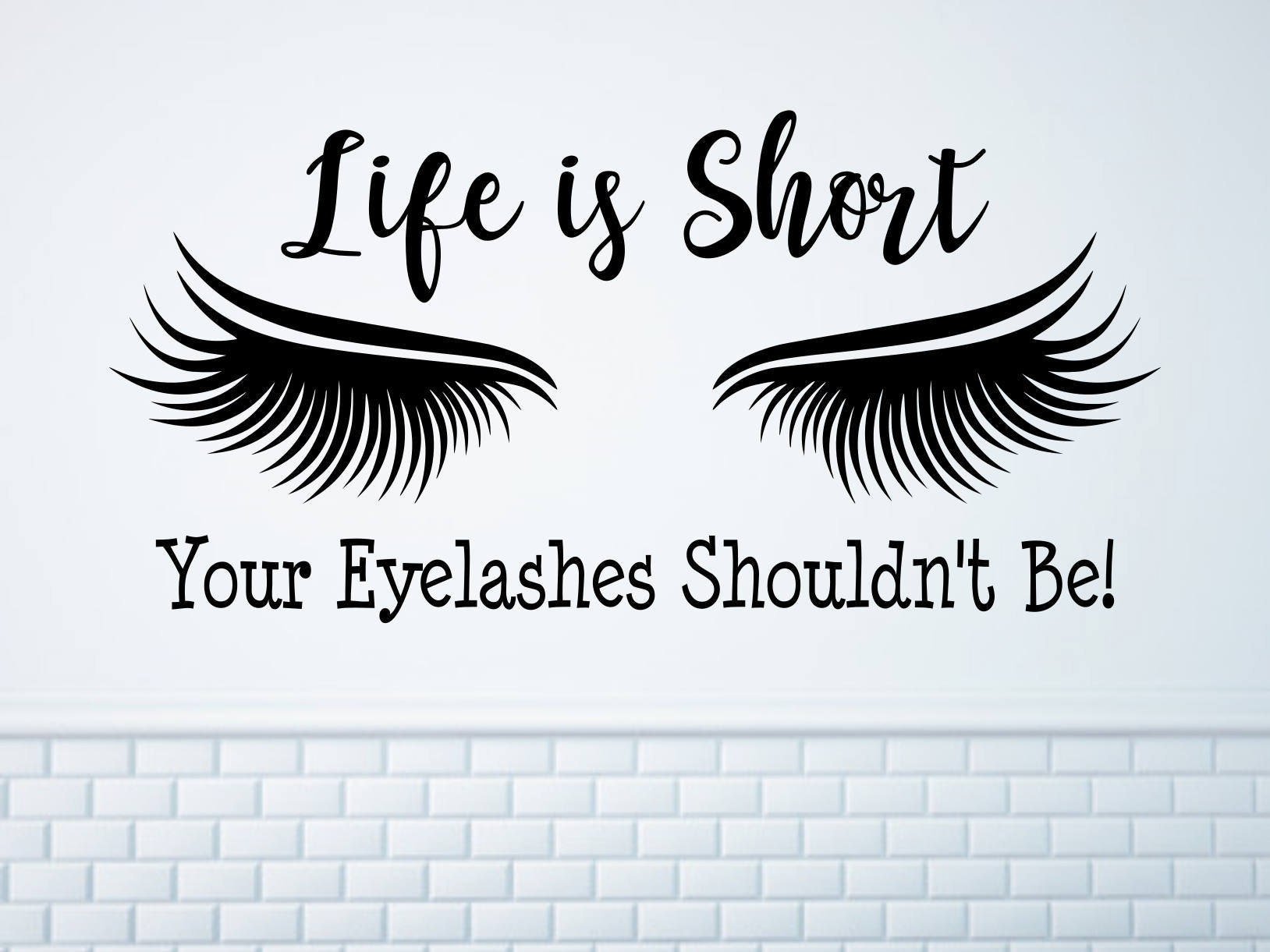 Eyelash Extension Decal Eyelash Decor Eyelash Art Beauty Etsy