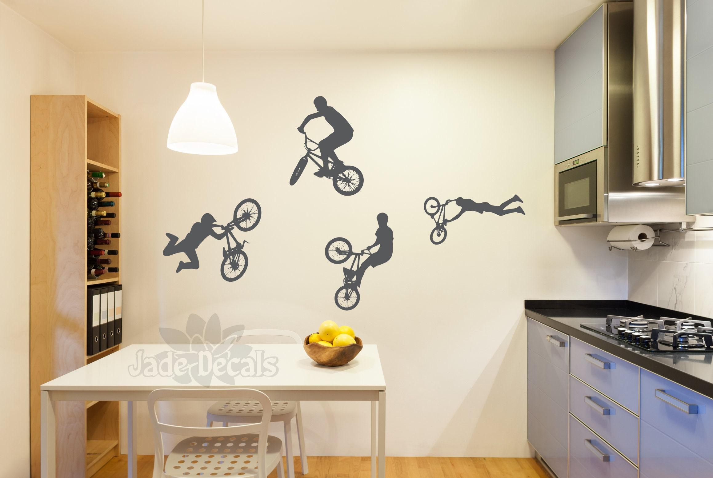 Bmx Wall Decal Name Wall Decal Bmx Wall Art Boys Room