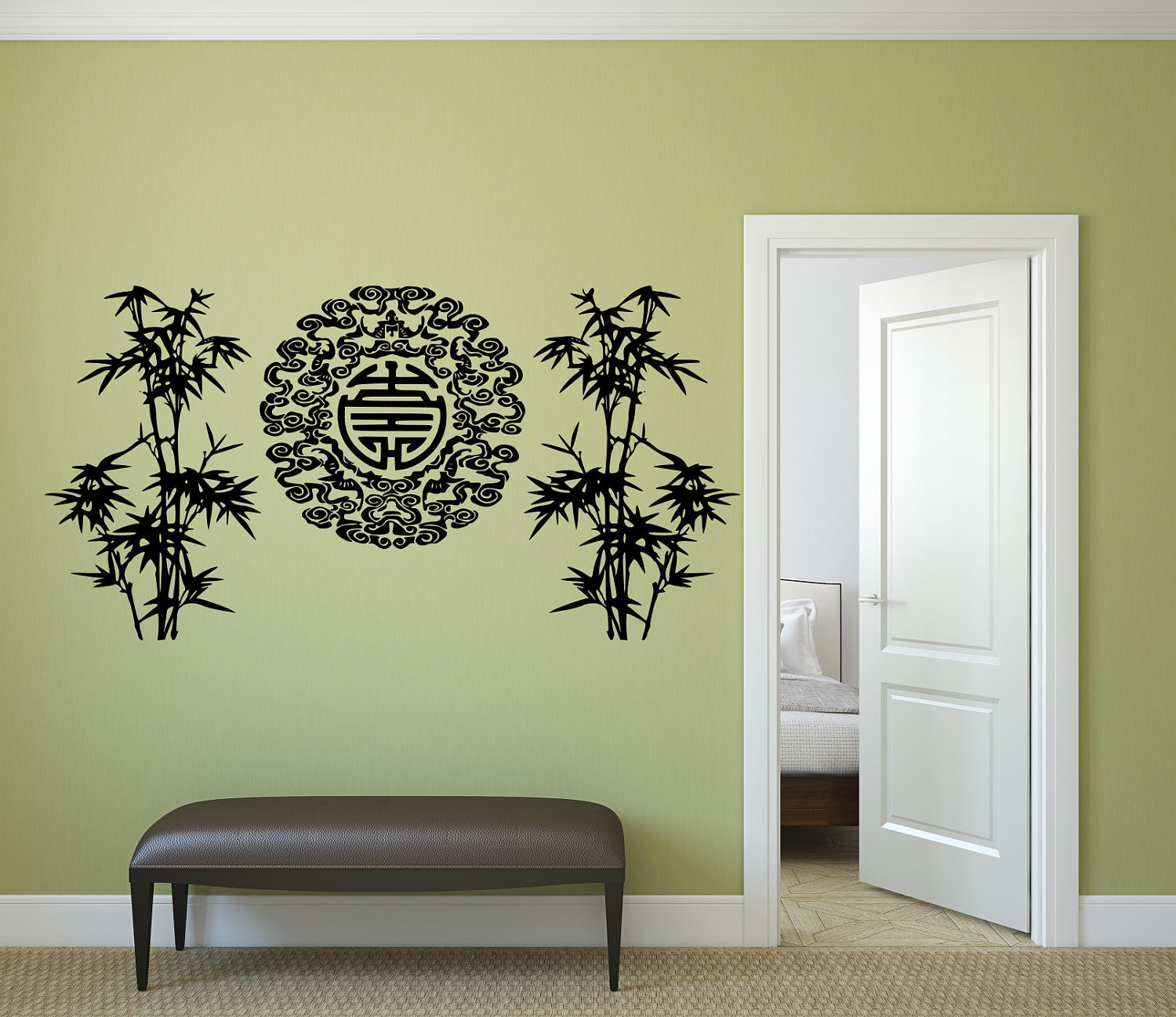 Bamboo tree decals, Bamboo decal, oriental decal, bamboo decals ...