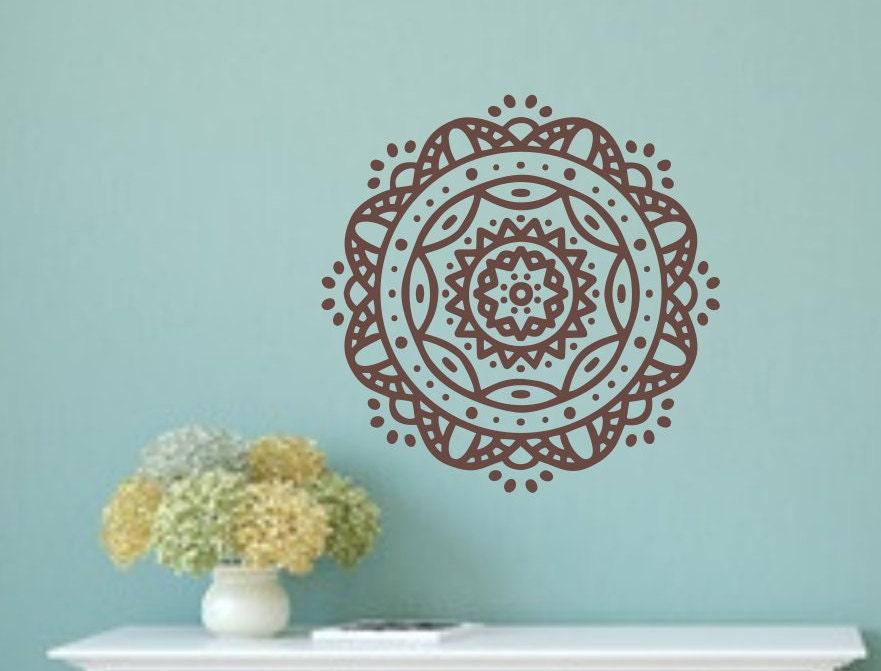 Mandala Decal Mandala Wall Art Mandala Wall Decal