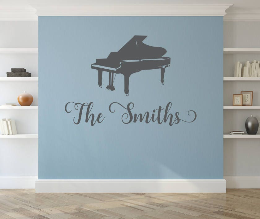 Personalized Piano wall decal, piano gifts, piano teacher gift ...