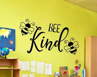 Be kind wall decal, Bee kind decal, be kind decal, always be kind, montessori, preschool, classroom decal, playroom wall art, bee wall decor