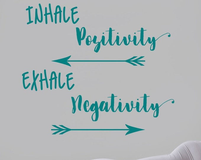 Inhale Exhale wall decal, breathe wall decal, yoga wall art