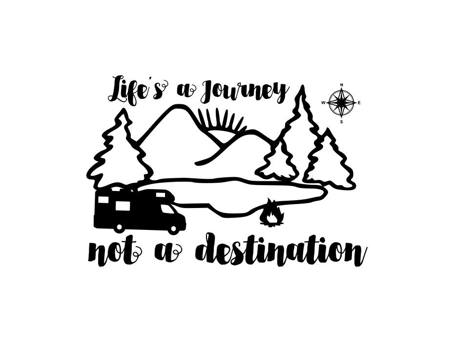 Lifes A Journey Rv Decal Enjoy The Decals Happy Camper For Motorhome Life