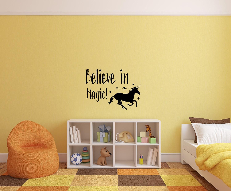 Unicorn decal, unicorn art, unicorn wall decal, unicorn wall art ...