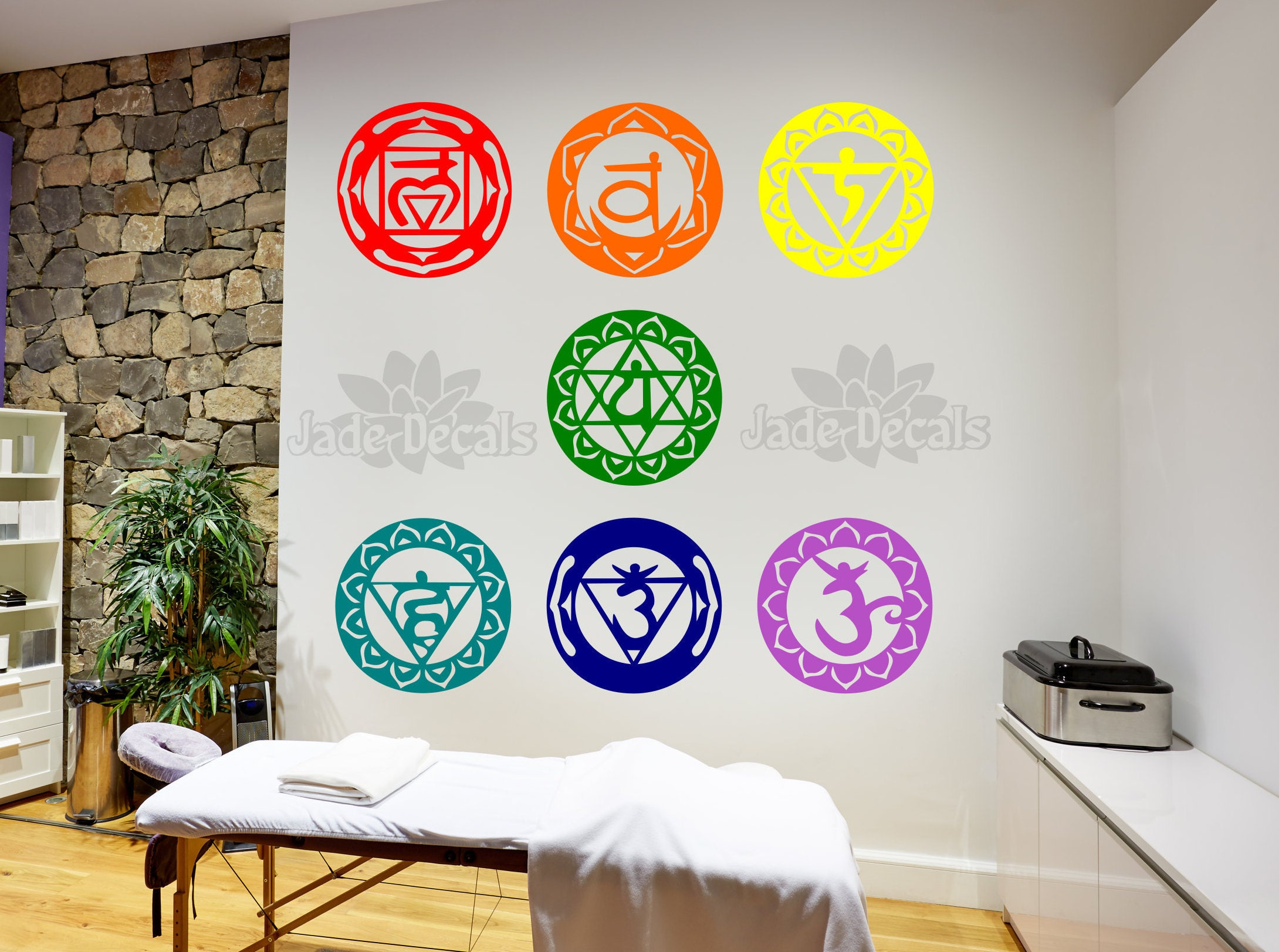Yoga wall decal yoga studio decor 1