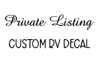 Private listing for Beverly- horse with carriage decal for RV in BROWN