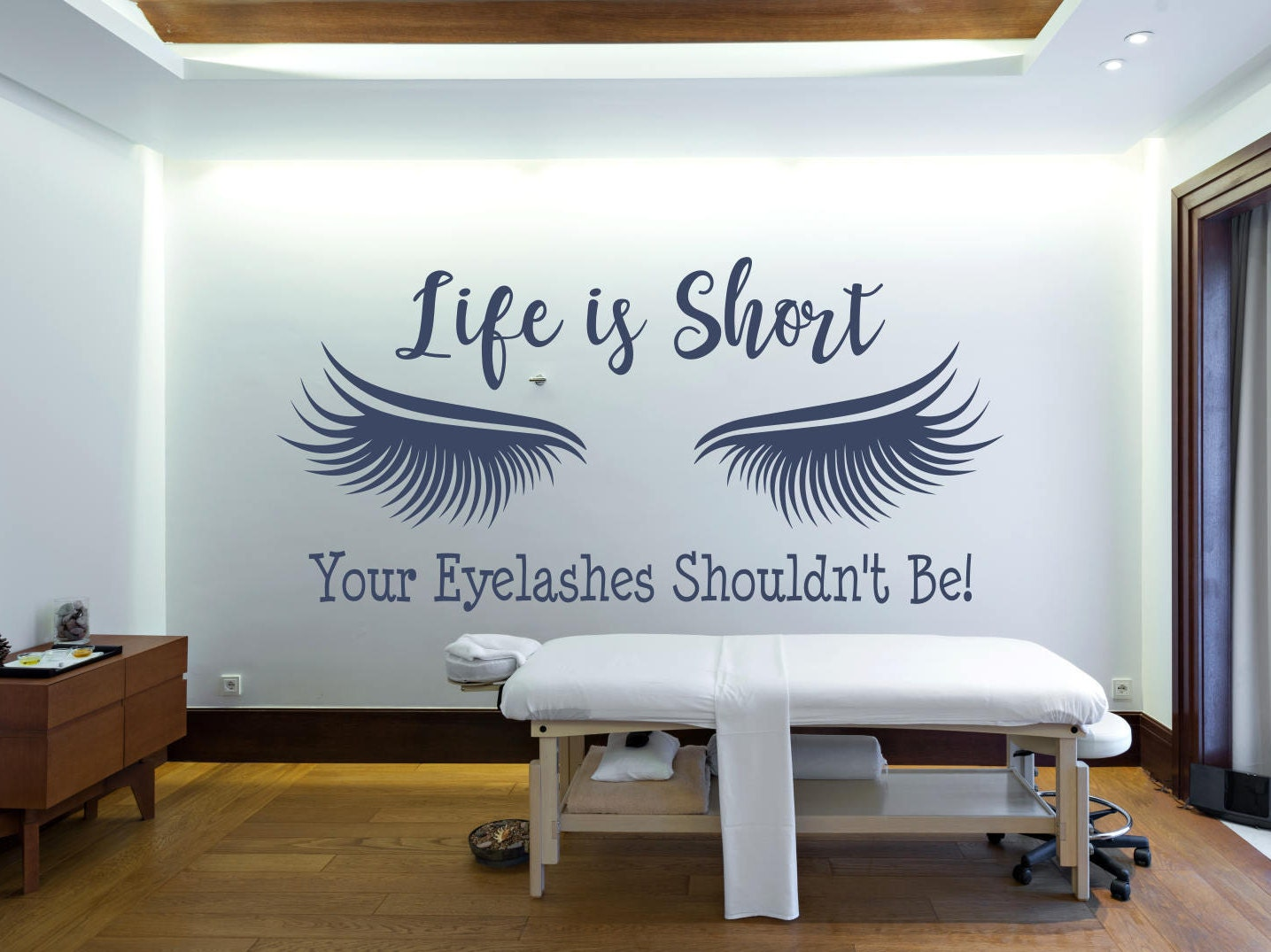Eyelash extension decal, eyelash decor, eyelash art // Beauty salon