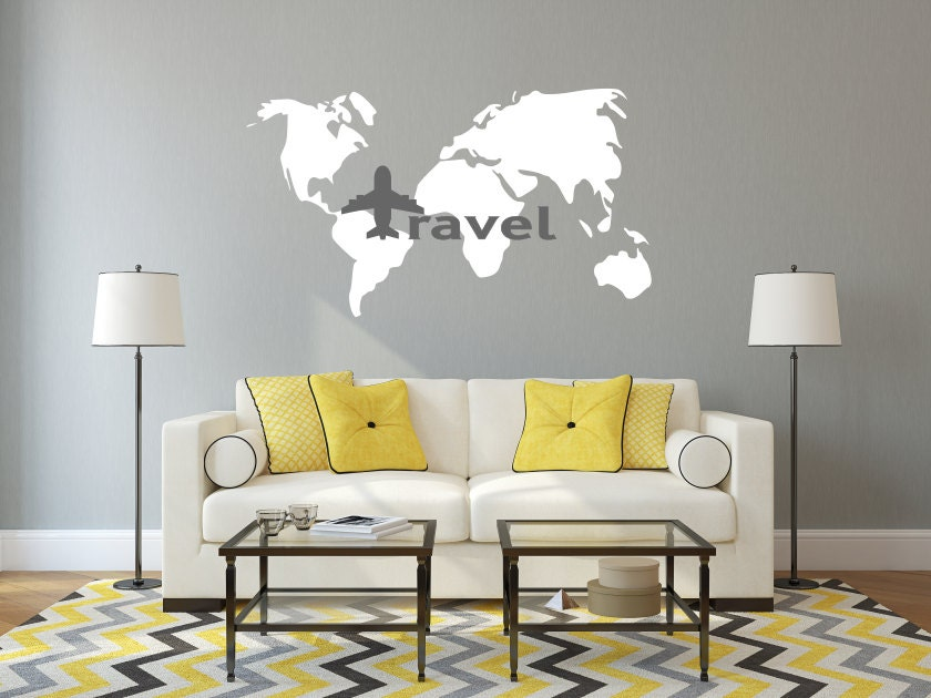 World map travel decal world map decal travel wall decal travel world map travel decal world map decal travel wall decal travel decor world map wall art traveler world map love to travel travel gumiabroncs Gallery