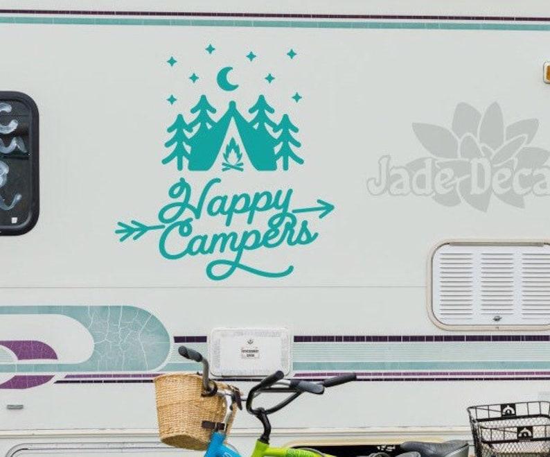 Personnalisé avec vos noms Camper Autocollant camping-car autocollant perdu de nouveau