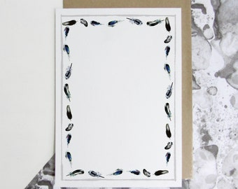 Feather Pattern Writing Paper