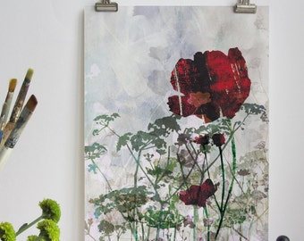 Hedgerow Flowers Print