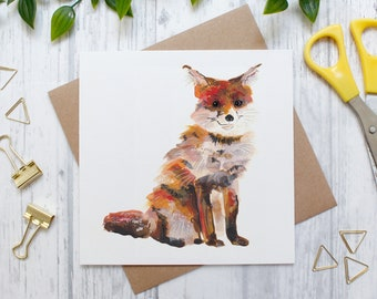 Fox Blank Greeting Card, Red Fox, Countryside and Wildlife, Nature Card, Nature Art Card, Animal Blank Greeting Card