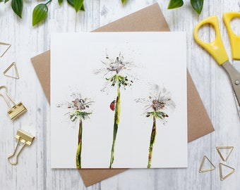 Dandelion Blank Greeting Card, Countryside and Wildlife, Nature Card, Floral Card, Flowers and Nature, Blank Greetings Card