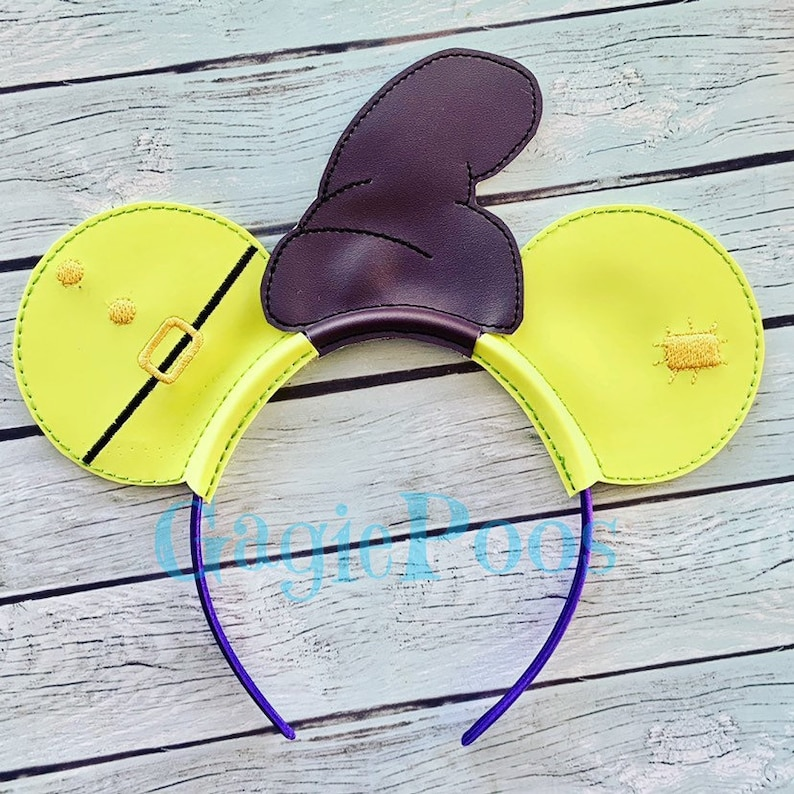 6e26758c9ea Dopey Mouse Ears Headband with hat. Inspired by Snow White and