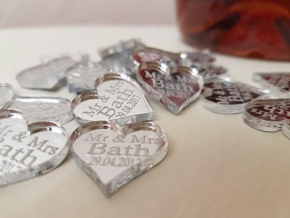 Personalizzato Amore Cuore Decorazioni Di Nozze Regalini Mr /& Mrs